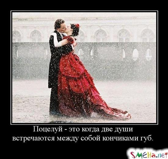 Поцелуй - это когда две души встречаются между собой кончиками губ.