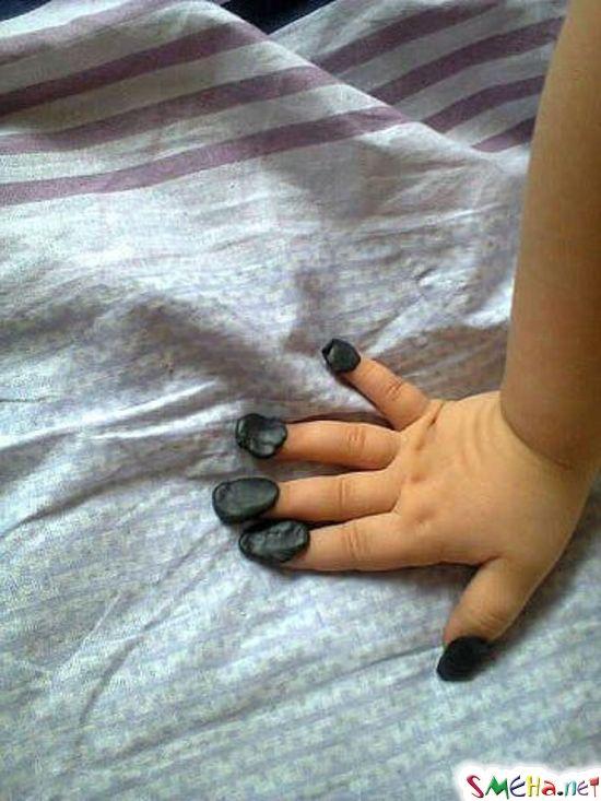 Делаю ногти, быстро и недорого... Маша, 3 года.