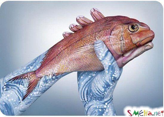 Рыба из рук