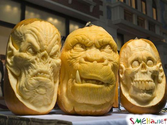 Резьба по тыкве на Хэллоуин