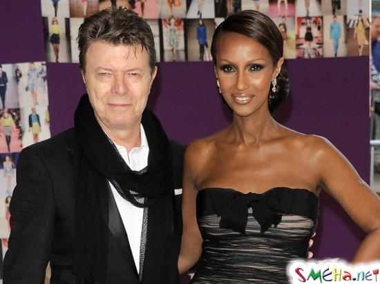 Дэвид Боуи с женой